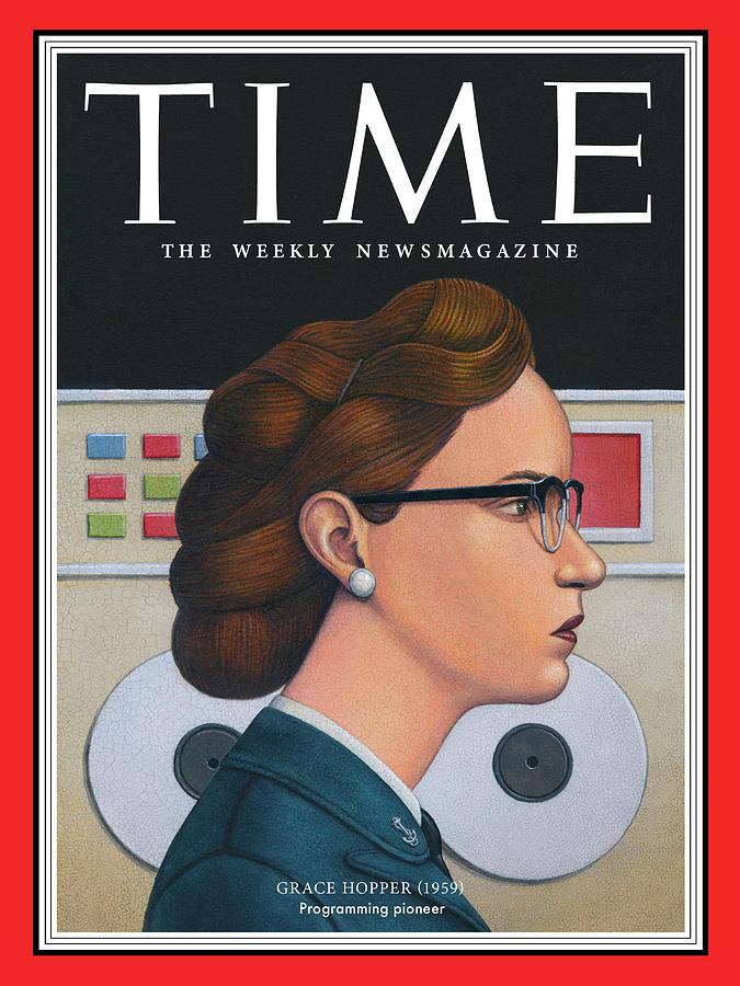 Time Photograph - Grace Hopper, 1959 by Illustration by Marc Burckhardt for TIME