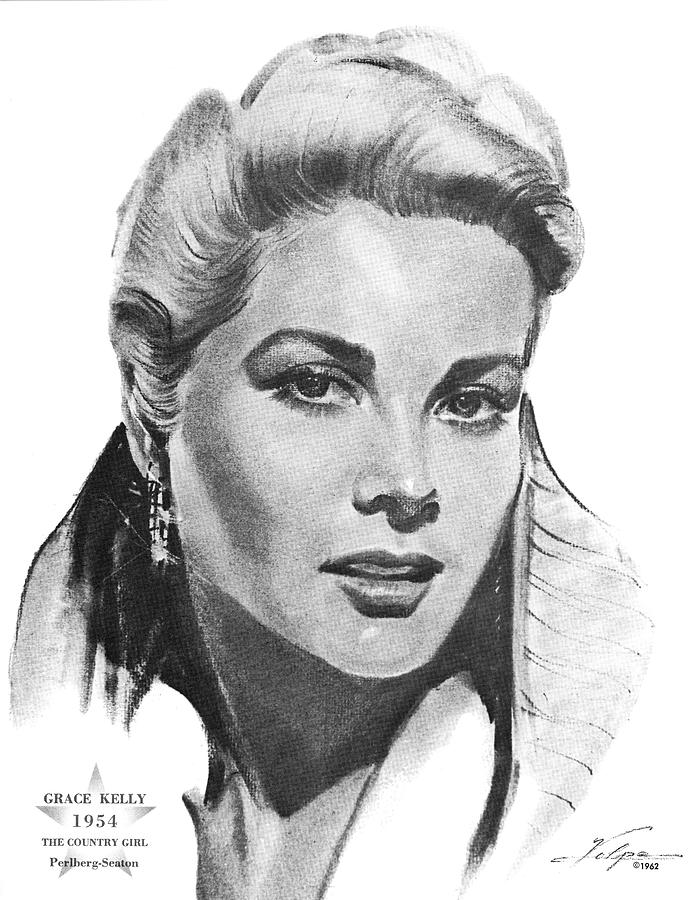 Grace Kelly By Volpe Drawing