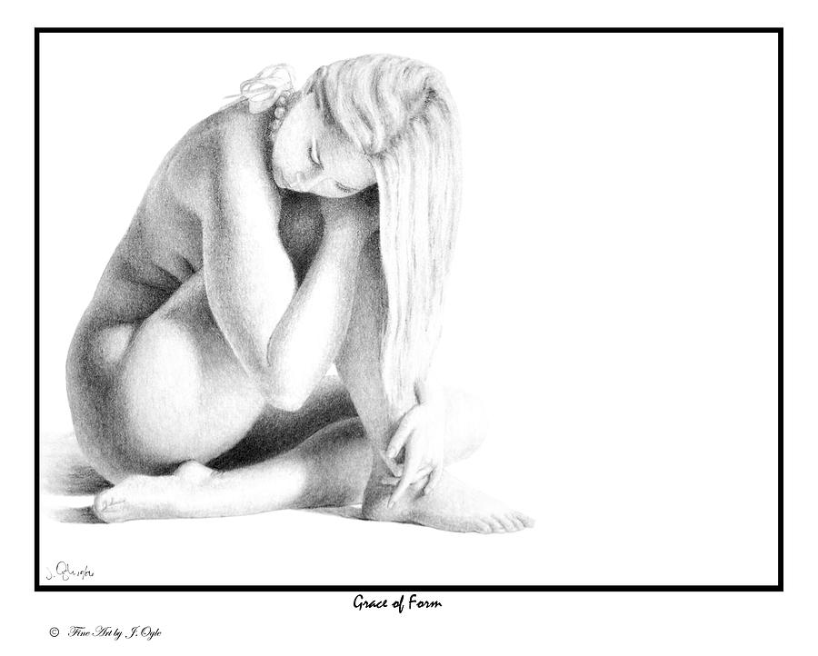 Nude Drawing - Grace Of Form print only by Joseph Ogle