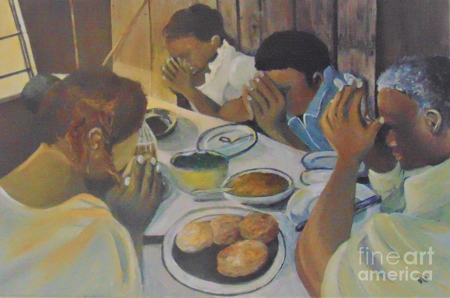 African American Painting - Grace by Saundra Johnson