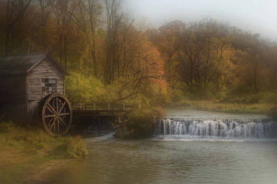 Autumn Photograph - Grain Mill CIRCA 1850 by Paul Malen