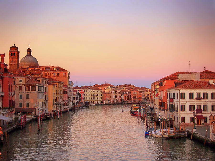 grand canal in venice evening twilight by Philip Openshaw