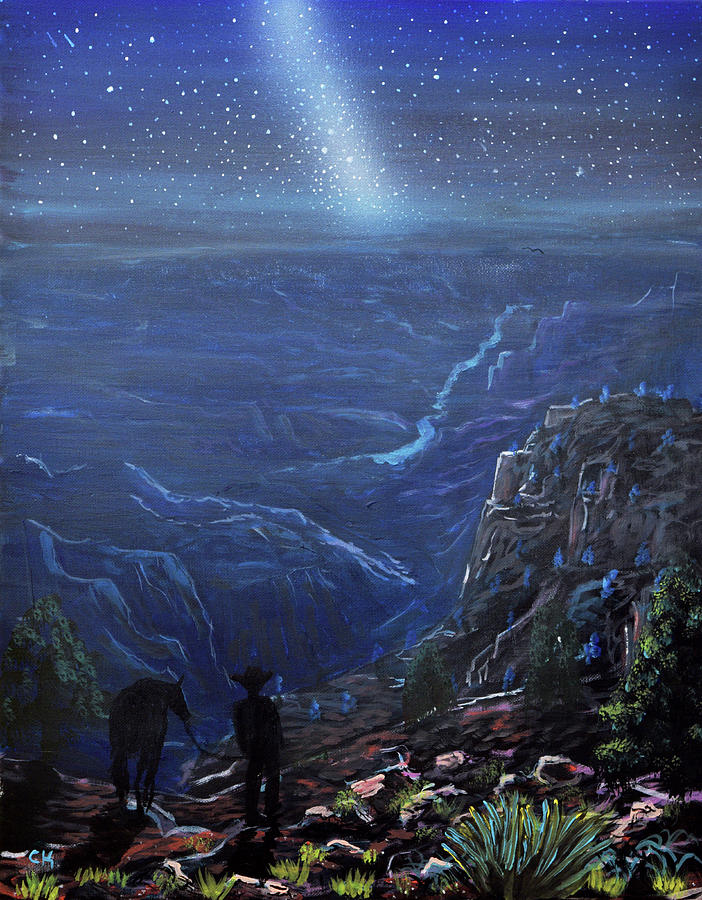 Grand Canyon Night by Chance Kafka