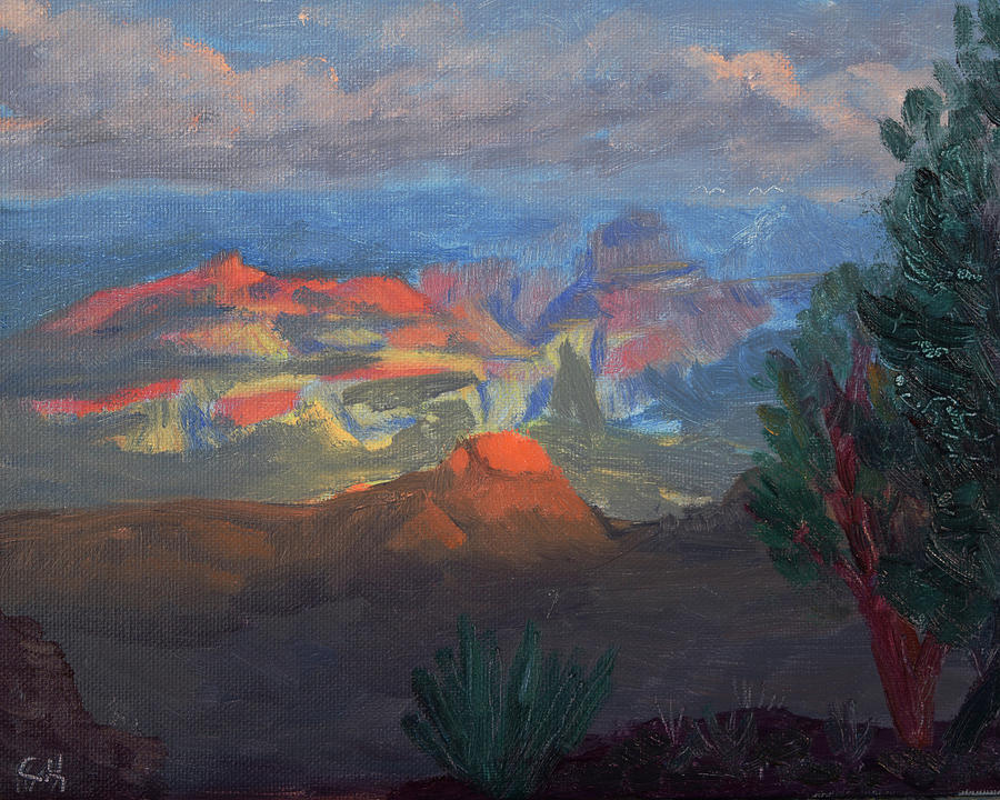 Grand Canyon Shadow Mood Painting