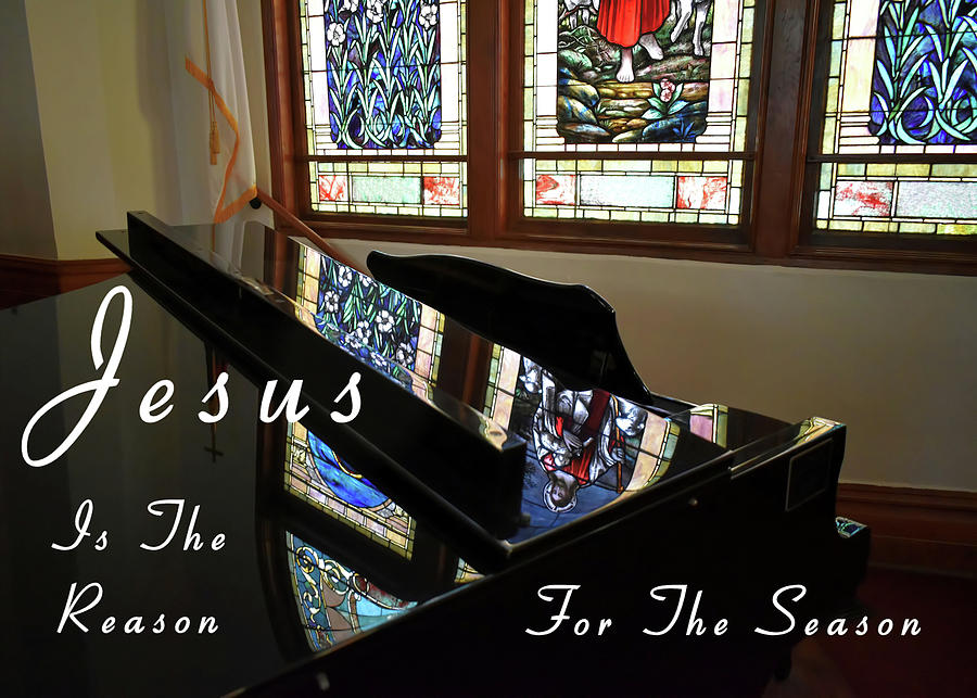 Grand Piano Jesus Is The Reason by Kathy K McClellan