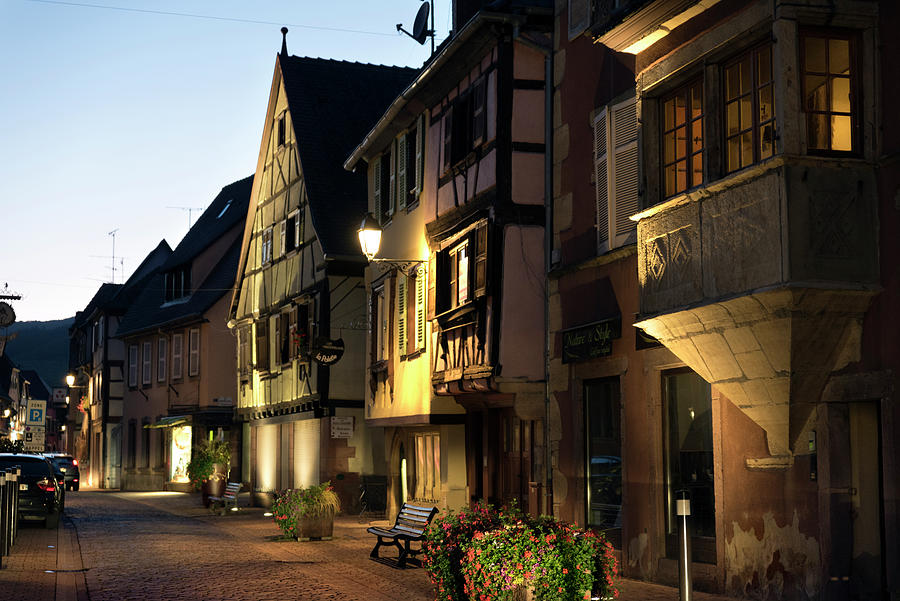 Grand-Rue in Turckheim at nightfall by RicardMN Photography