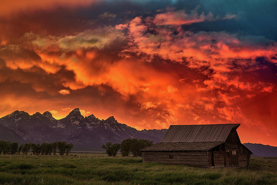 Grand Sunset in the Tetons by Jon Glaser