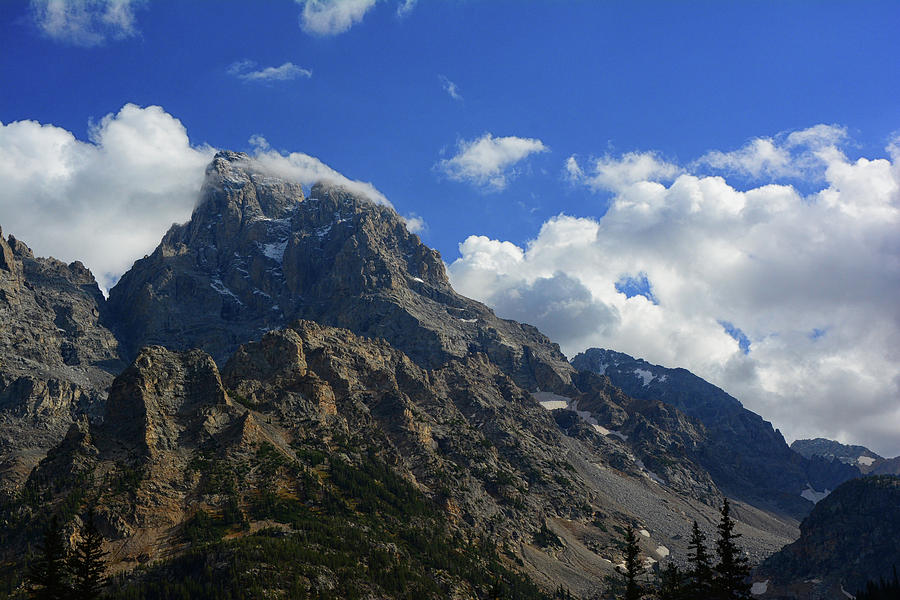 Grand Teton and Middle Teton from Cascade Canyon North Fork by Raymond Salani III
