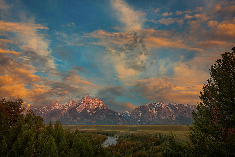 Grand Teton Cloudscape by Jon Glaser
