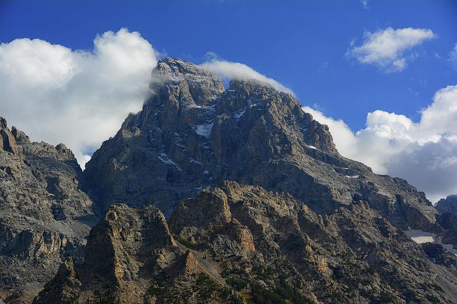Grand Teton from Cascade Canyon North Fork by Raymond Salani III