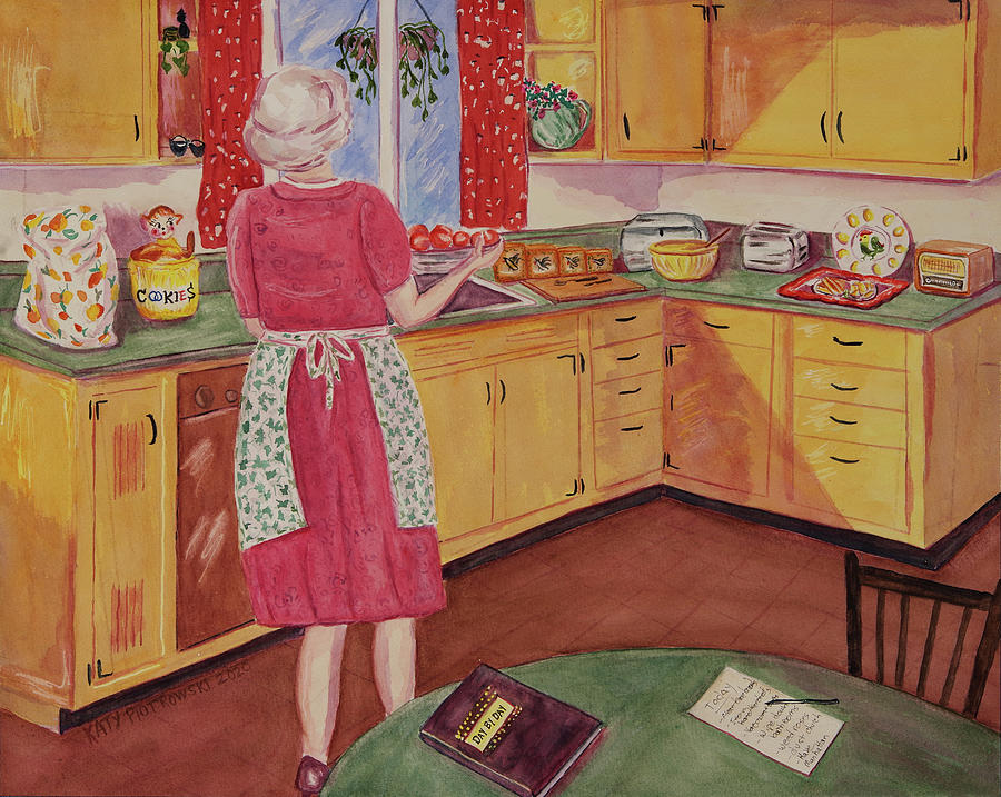 Grandma S Kitchen Painting By Katy Piotrowski