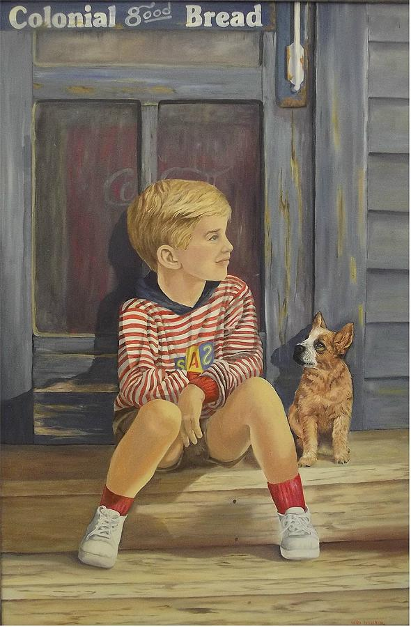 Children Painting - Grandpas Country Store by Wanda Dansereau