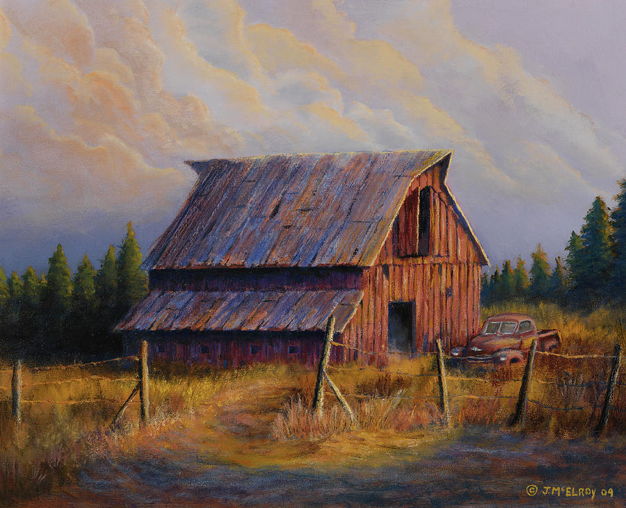 Barn Painting - Grandpas Truck by Jerry McElroy