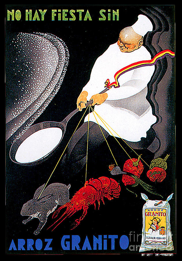 Granite Rice Advertising Poster Painting