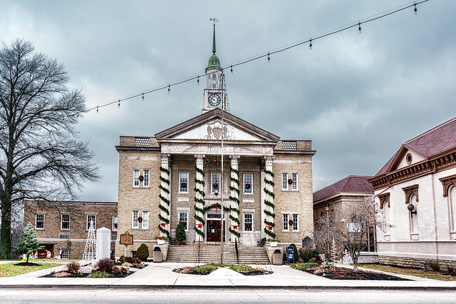 Grant County Courthouse Christmas by Sharon Popek