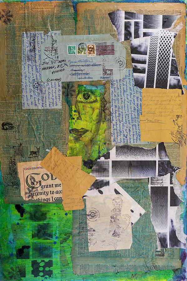 Letters Mixed Media - Grant Me  by Cathy Anderson