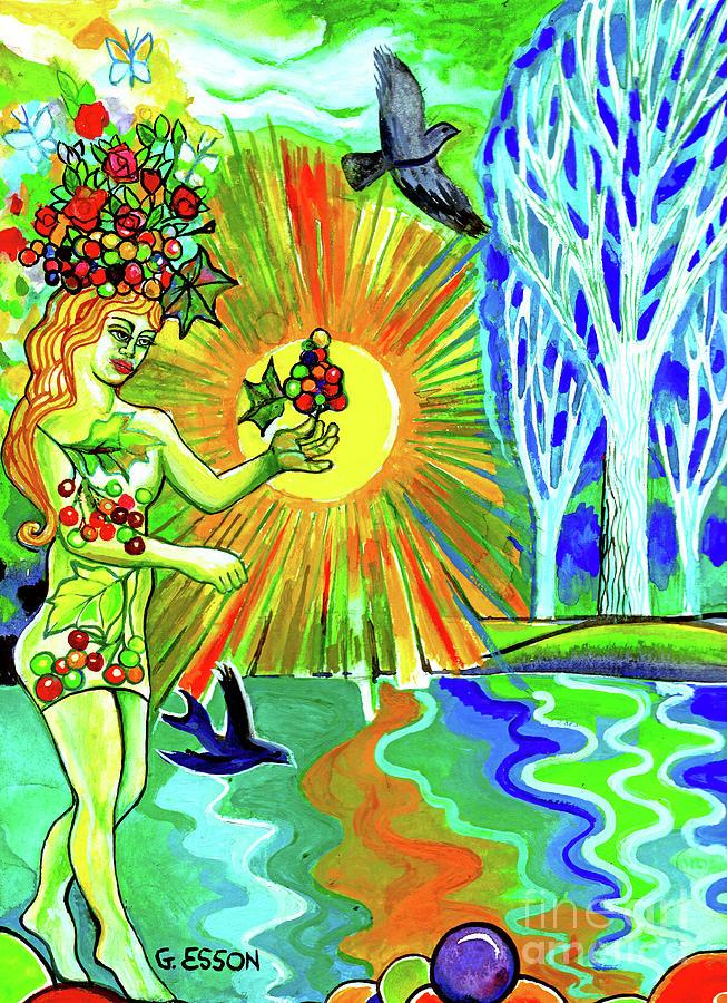 Grape Goddess At Sunrise by Genevieve Esson