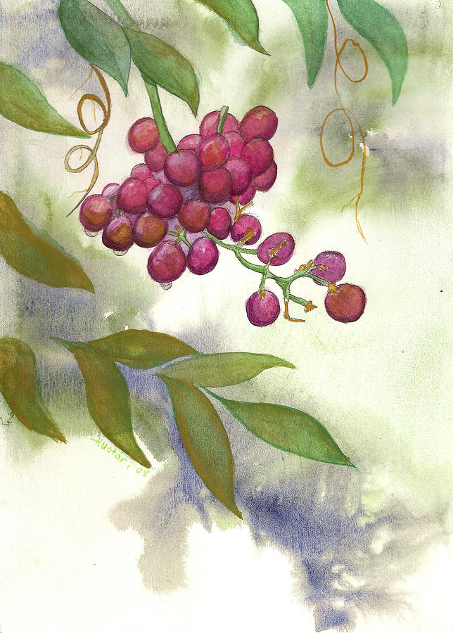 Grapes Painting - Grapes Divine by Rick Huotari