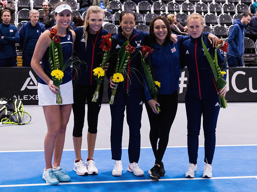 Great Britain v Hungary - Fed Cup by BNP Paribas Photograph by Getty Images