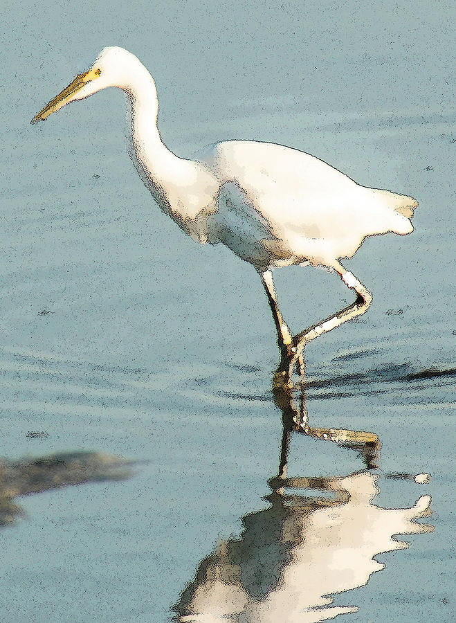 Great Egret Walking by Jessica Levant