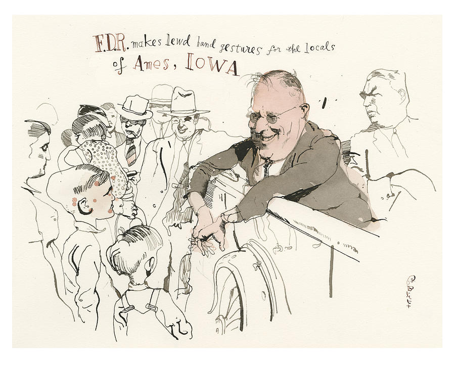 Great Moments In Presidential History Painting by Barry Blitt