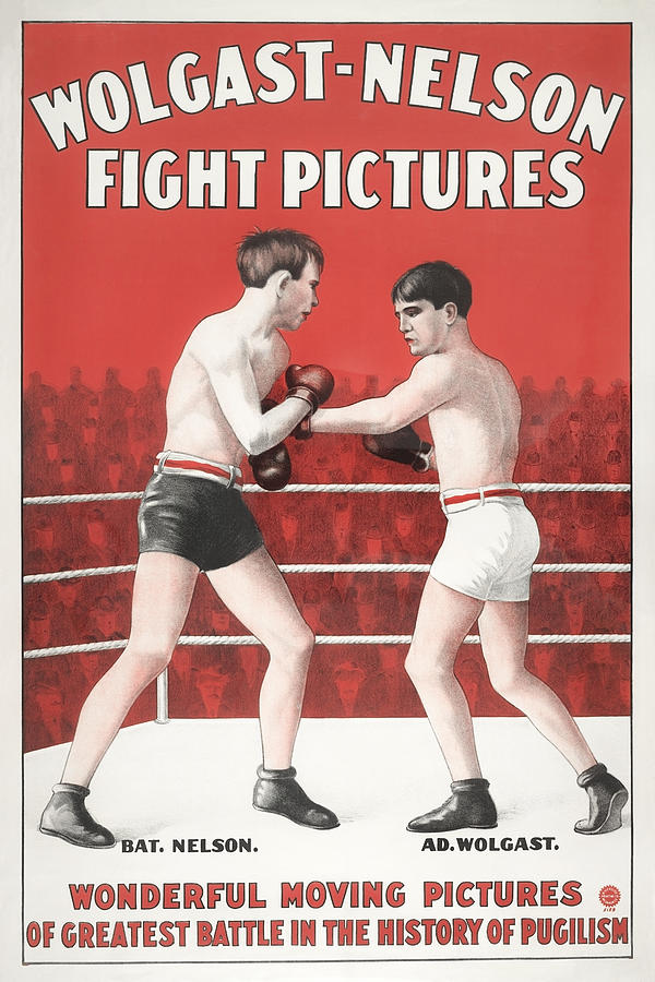 Greatest Battle In The History Of Pugilism - Movie Poster 1910 Painting