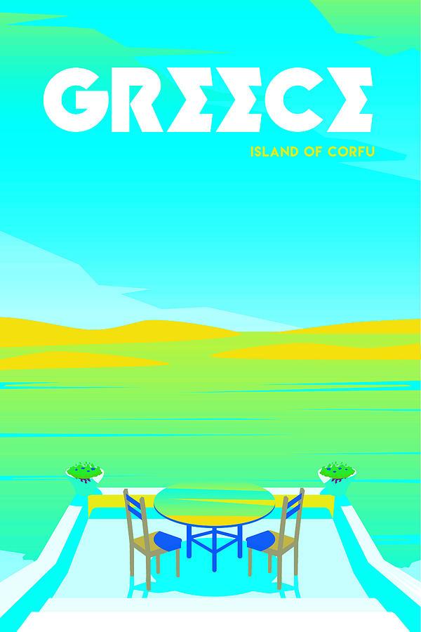 Greece Digital Art