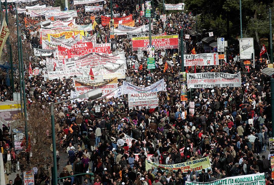 Greece Crippled By General Strike Photograph by Milos Bicanski