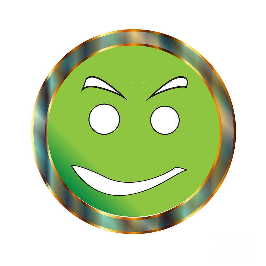 Green Almost Positive To Go Emticon On White by Bigalbaloo Stock