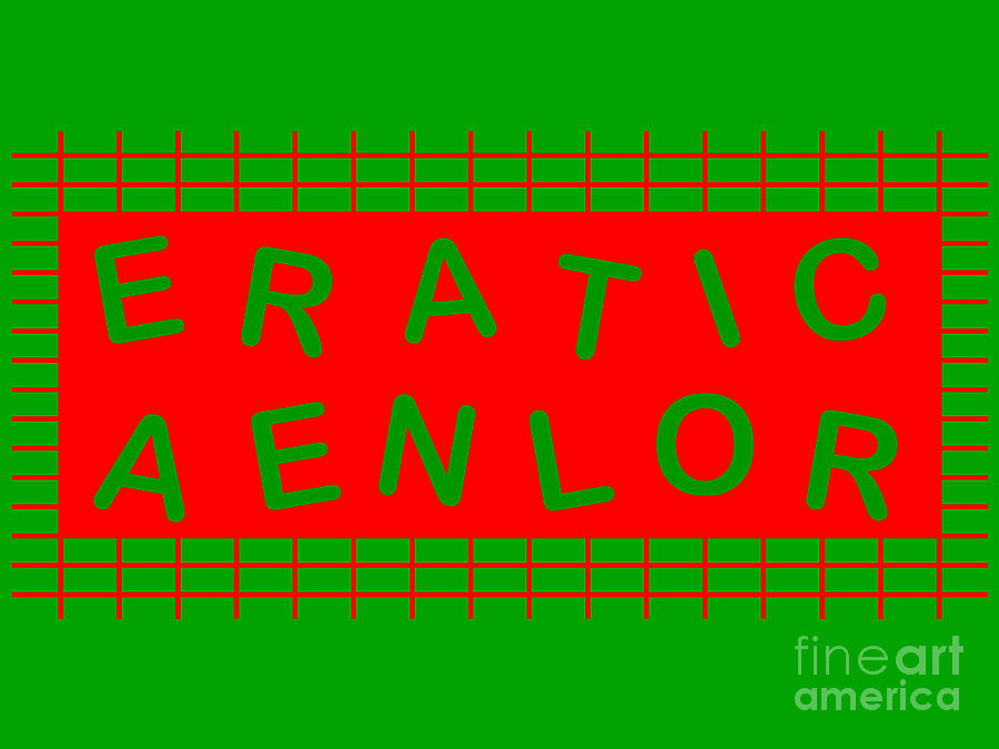 Green And Red 12 Letter Anagram And Word Game. Digital Art