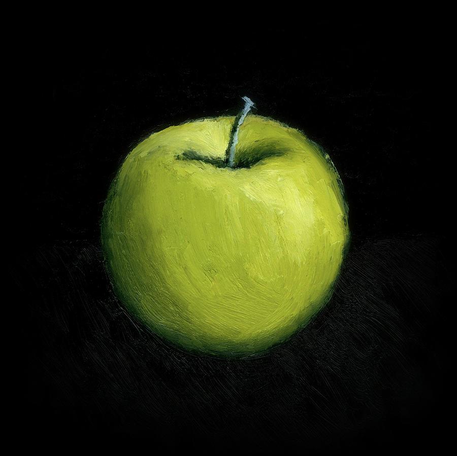 Green Apple Still Life Painting