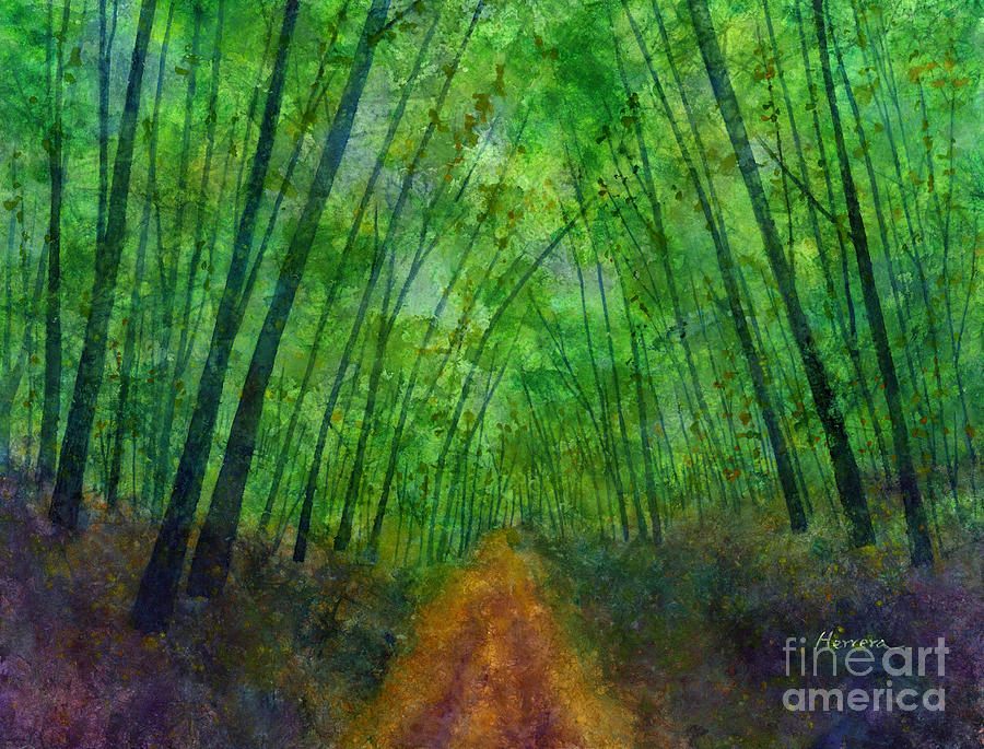 Green Archway Painting