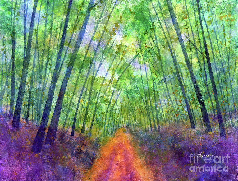Green Archway-pastel Colors Painting