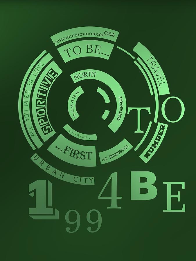 Green Background Of Bright 1994 Typography Digital Art