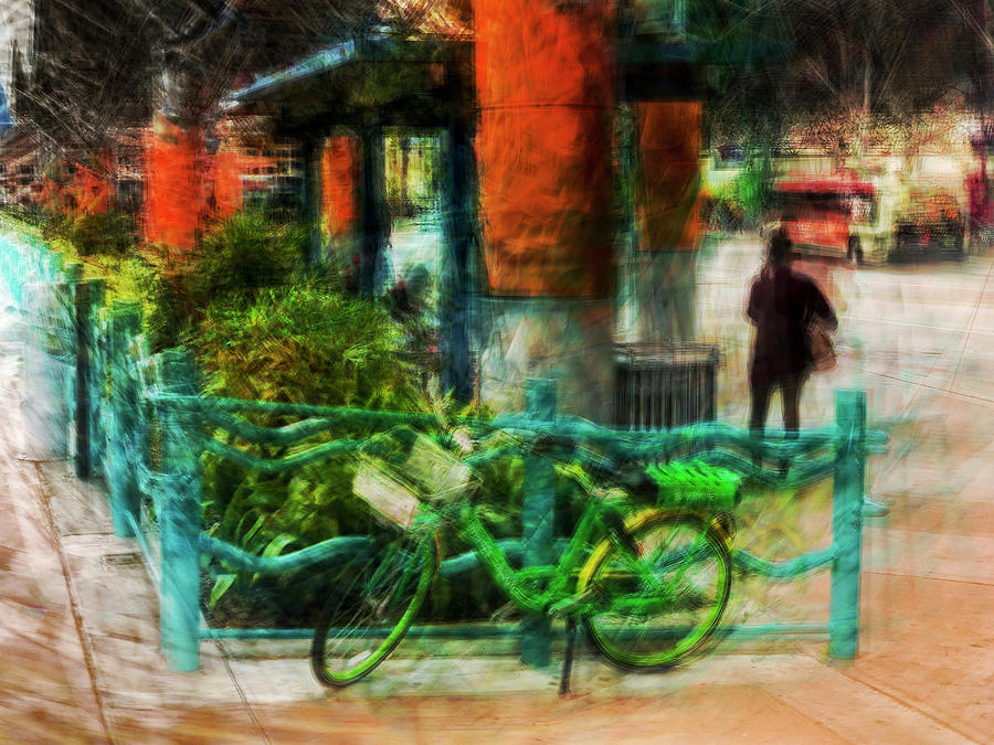 Green Bicycle by Charles LeRette