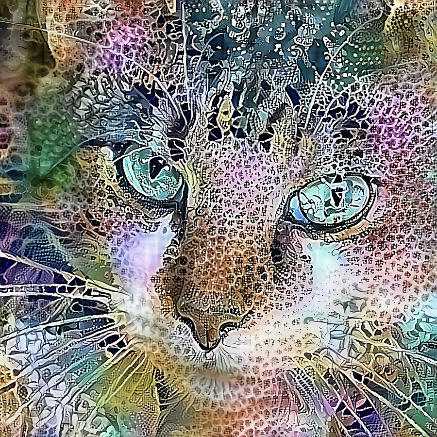 Green Eyed Crystal Cat by HH Photography of Florida