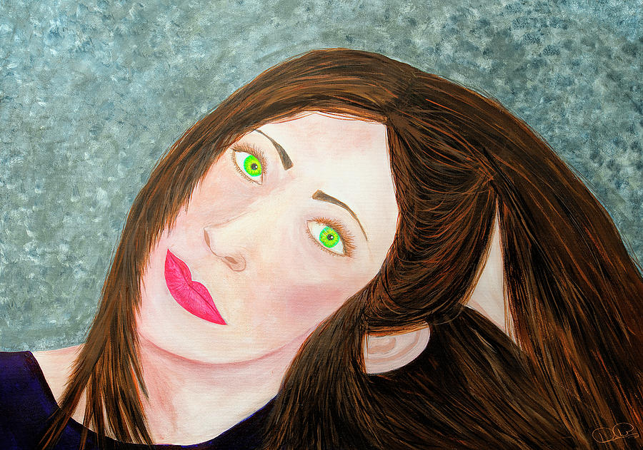 Green Eyed Lady by Dee Browning
