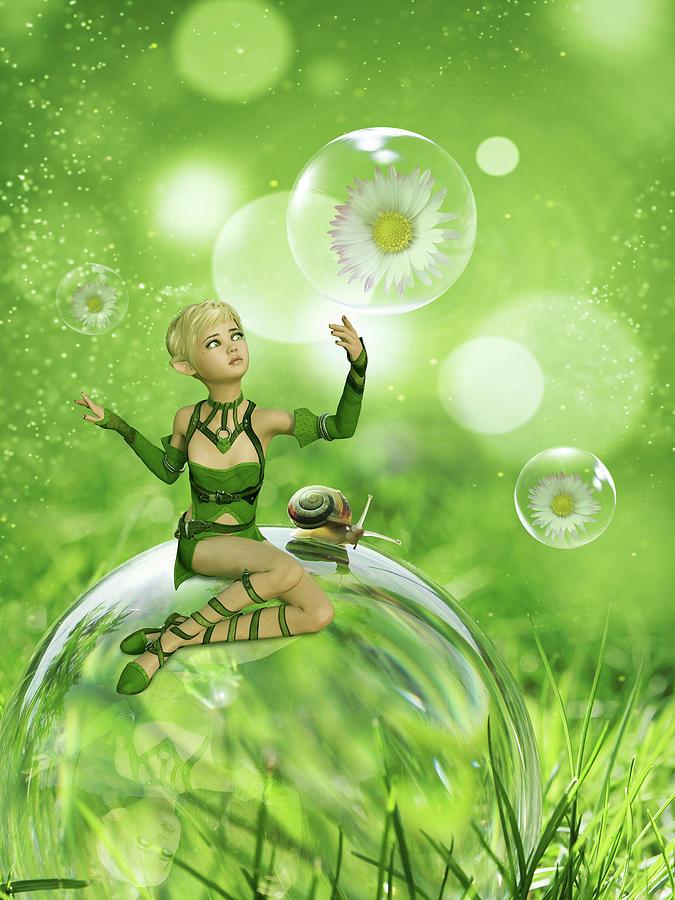 Green Fairy Digital Art