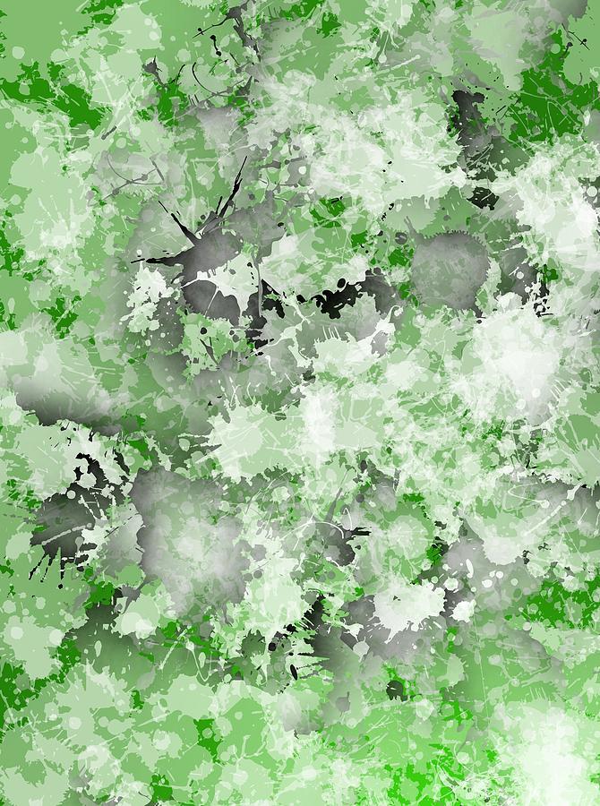 Green Grounge Fashion Digital Art