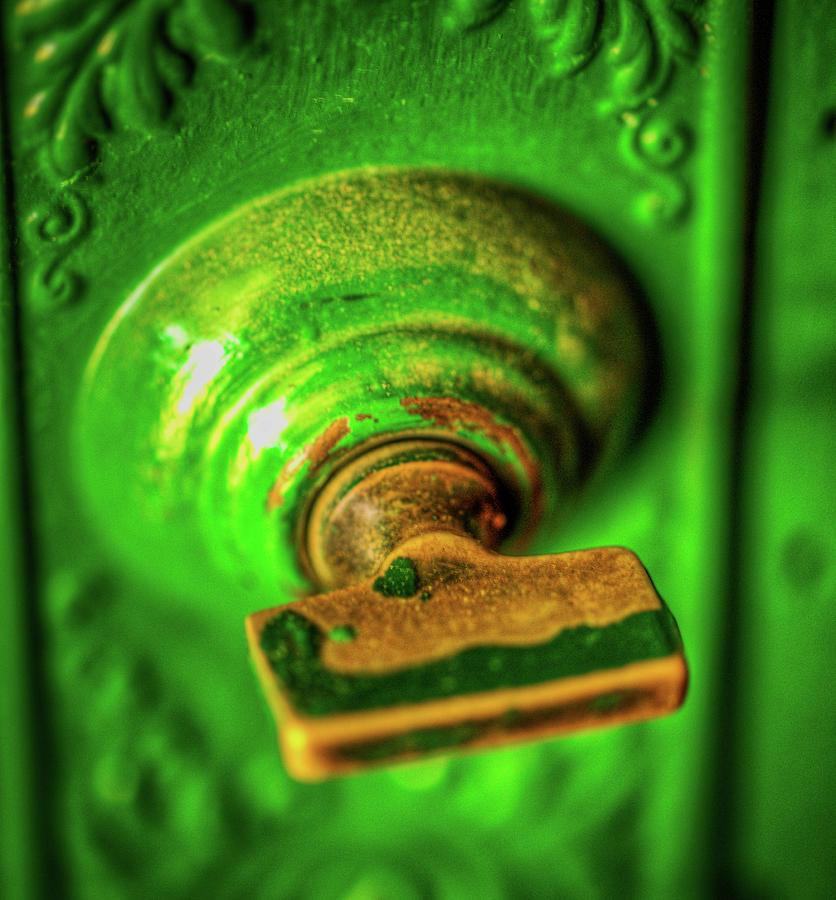 Green Lock Photograph