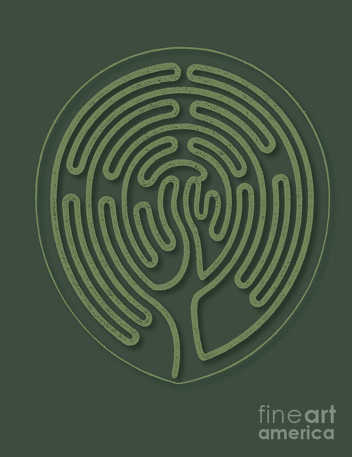 Green Mind Labyrinth Painting