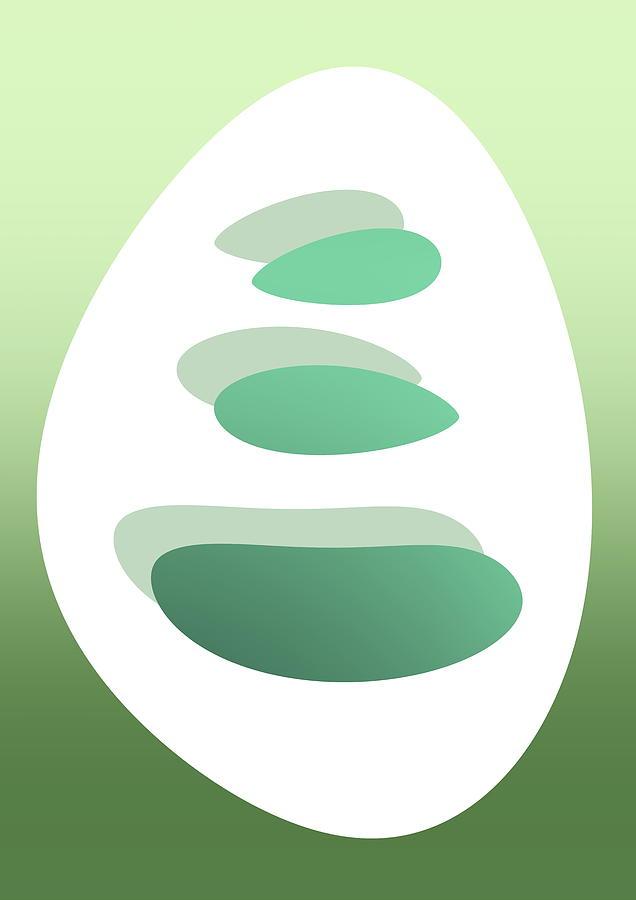 Green Minimal Zen Art Digital Art