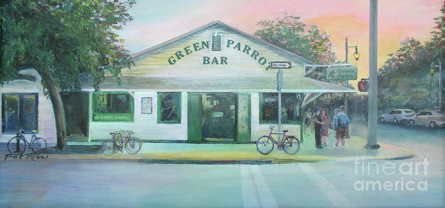 Green Parrot Bar in Key West by Patricia Ricci