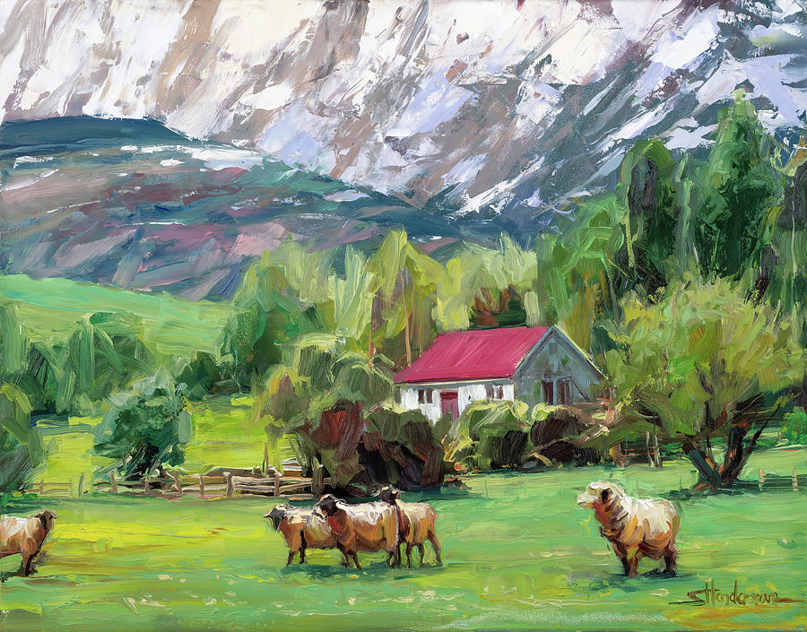 Green Pastures Painting