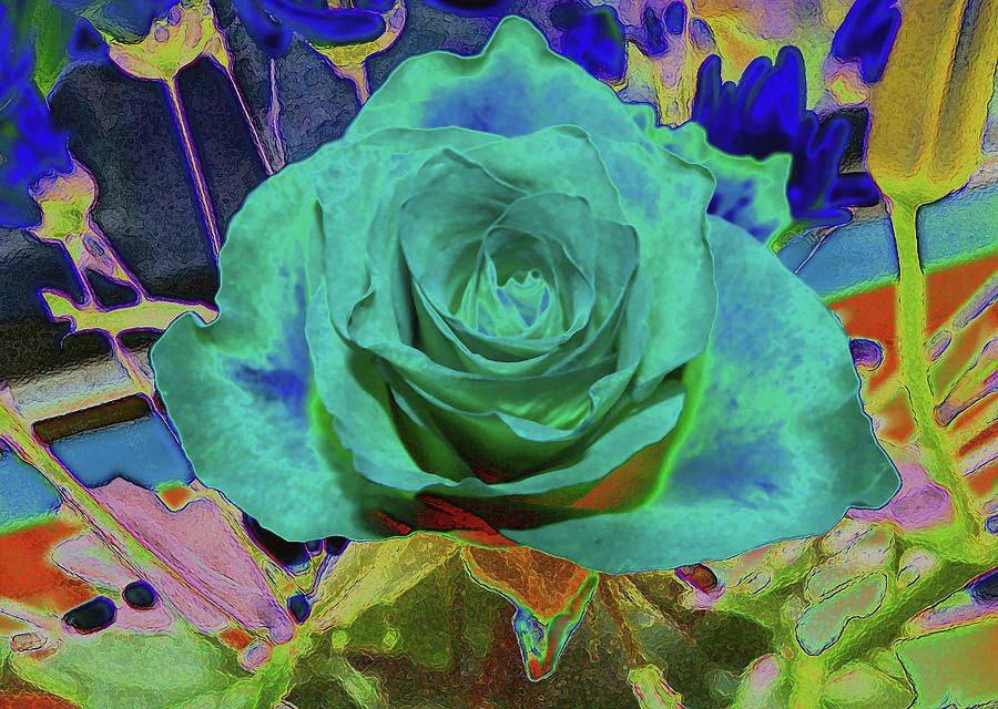 Green Rose Painting