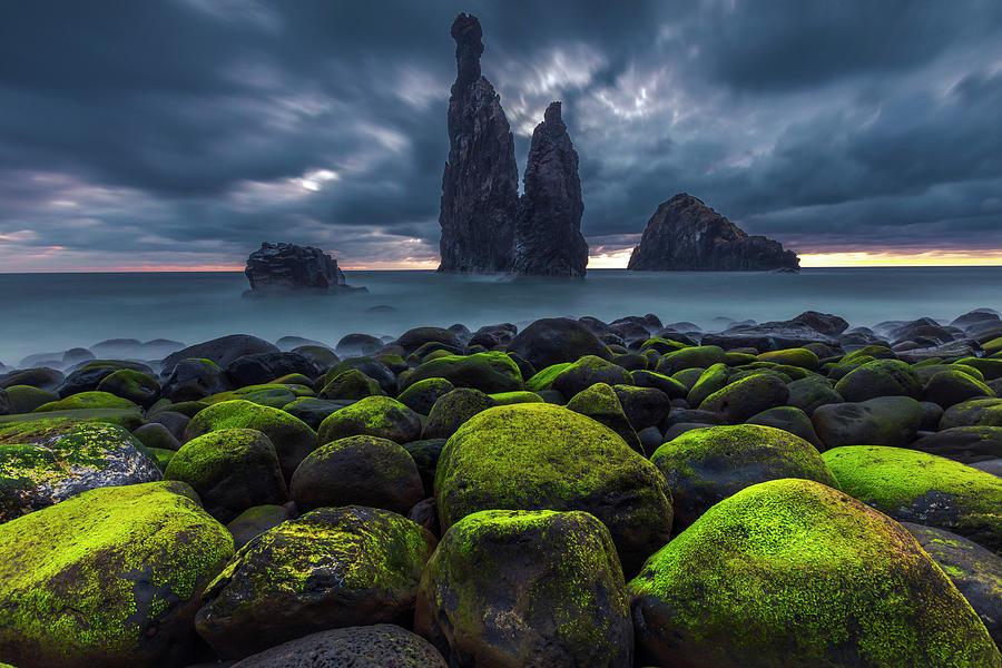 Green Stones Photograph