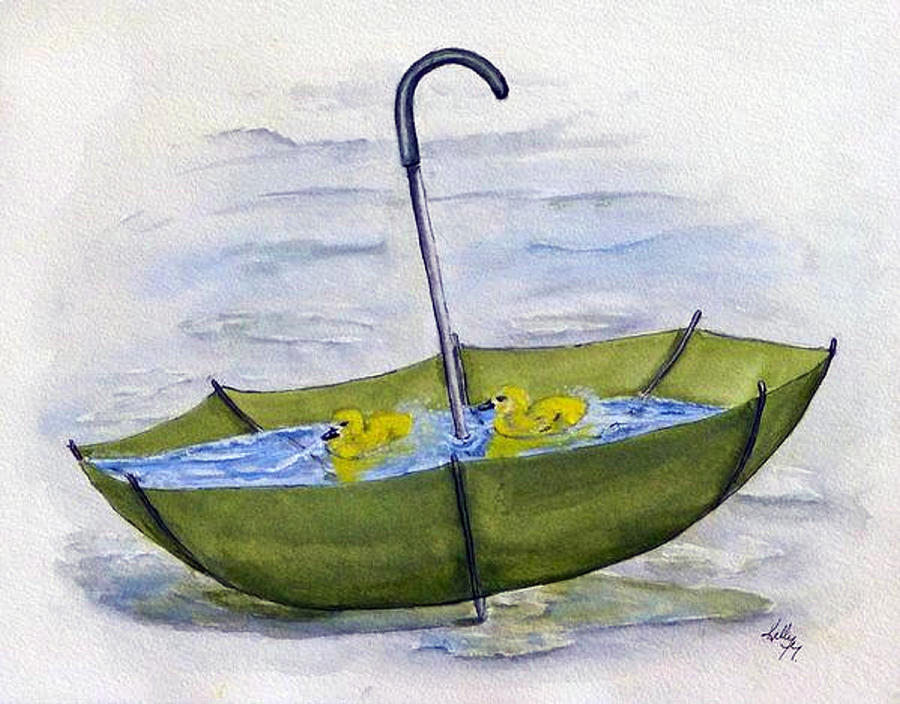 Green Umbrella Pool by Kelly Mills
