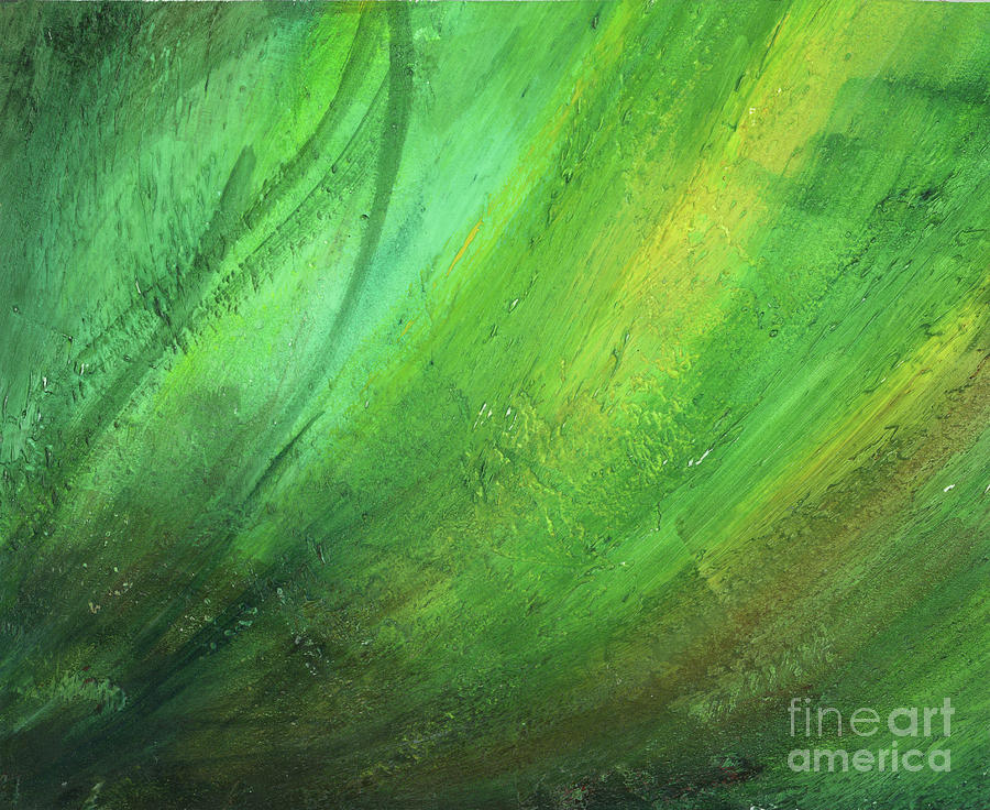 Green Painting - Green Wind by Brandy Woods