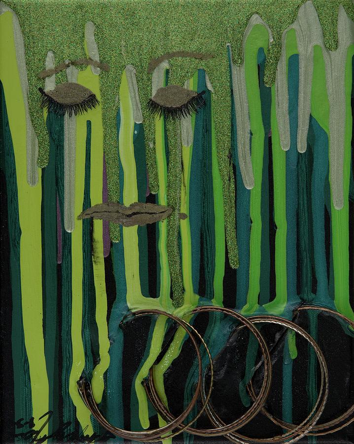 Green Mixed Media - Green Woman by AliciaKay