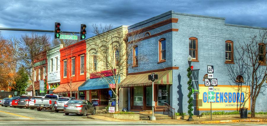 Greensboro Georgia 8 Fall Small Town Cityscape Art by Reid Callaway